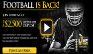 Bookmaker sportsbook $2,500 Bonus Code Offer